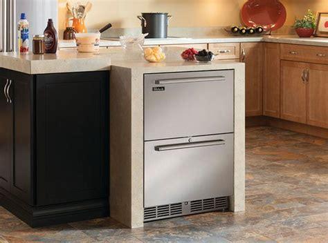 refrigerator drawers freezer undercounter kitchen refrigerators kitchens modern island must perlick zone dual deep freezers wine signature series cooler homedit