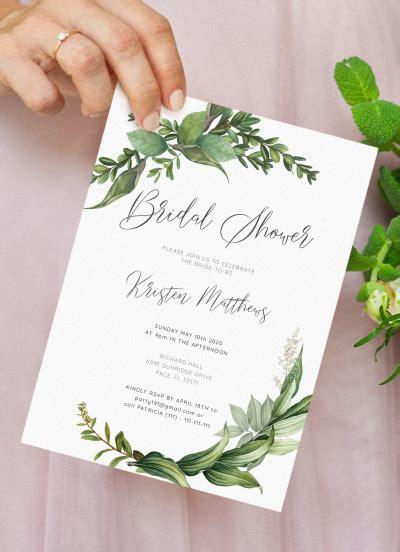 Download Printable Green Floral Bridal Shower Invitation