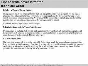 technical writer cover letter With cover letter writer
