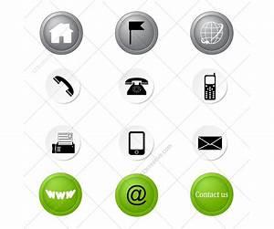 Contact icons set - 123creative.com