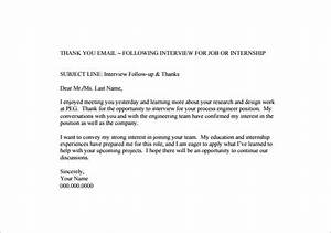 Thank you email after interview 17 free word excel for Internal interview thank you email template
