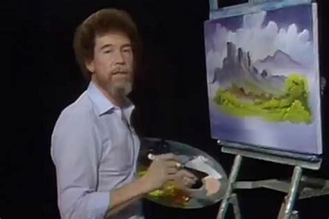 Painter Bob Ross Gets Remixed In 'happy Little Clouds'
