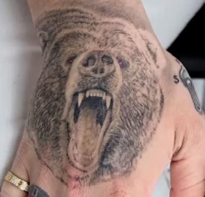 post malone bear tattoo tattoo