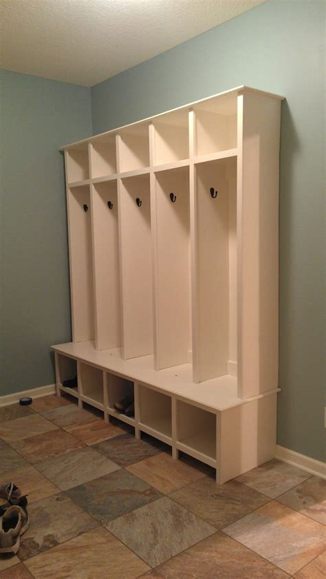 ana white mudroom lockers diy projects