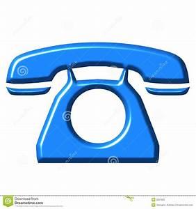 Telfono Del Azul 3D Foto De Archivo Libre De Regalas