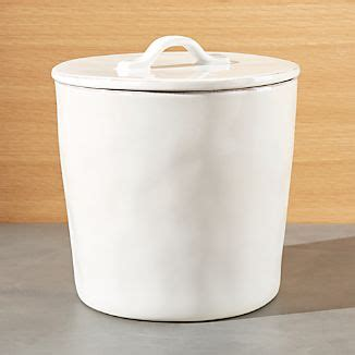 white kitchen canister kitchen canisters crate and barrel