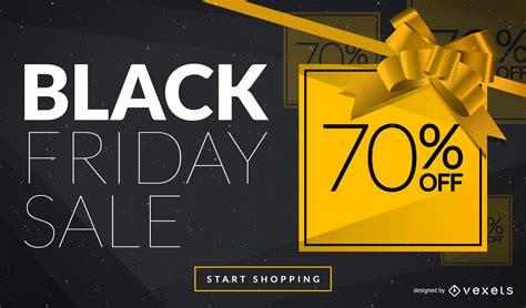 black friday web ad design vector