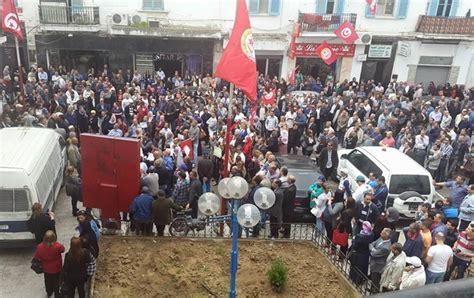 tunisie telecom siege grève des agents de tunisie telecom solidarité ouvrière