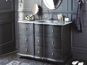 Meuble De Maison : tendance un meuble ancien dans la salle de bains le journal de la maison ~ Teatrodelosmanantiales.com Idées de Décoration