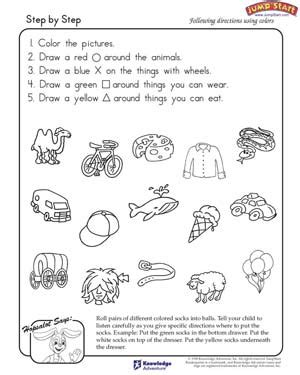 following directions worksheet third grade worksheets for