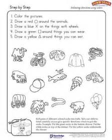 Preschool Following Directions Worksheet By Critical Thinking And Logical Reasoning Worksheets For Jumpstart