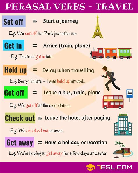 19 useful phrasal verbs for travel in