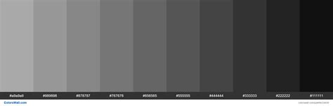 shades  dark gray aaa hex color hex colors light