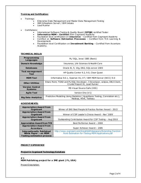 Loadrunner Resume Points by Resume Prabuddha Samaddar