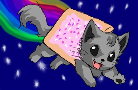 nyan cat drawing images pictures becuo pusheen