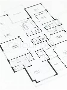 House Plans Isolated Against A White