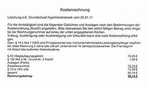 Rechnung Rechtsanwalt Nicht Bezahlen : grundschuld loeschung ~ Themetempest.com Abrechnung