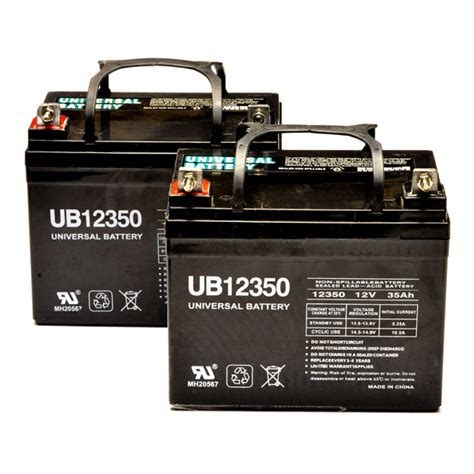 Jazzy Power Chair Battery Replacement by Jazzy Battery Pack Set Of 2 U1 35ah Power Chair Batteries