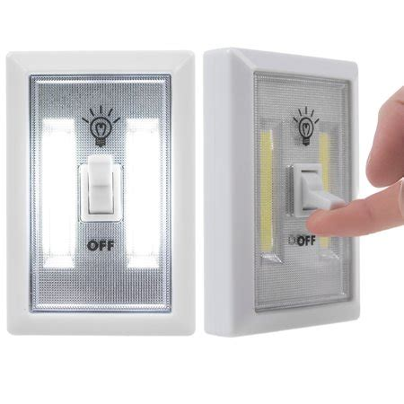 2packcob led wall lighted switch wireless closet night
