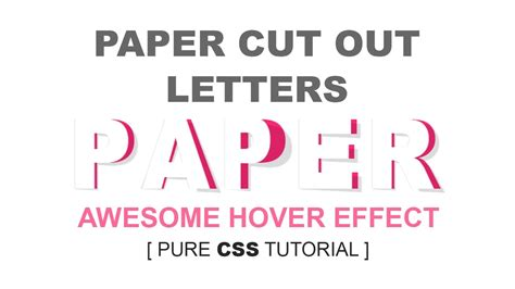 cut out letters paper cut out letters awesome html css 3d hover effect 13224