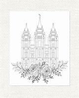 Temple Lds Coloring Lake Salt Printable Utah Pdf Adult Temples Bountiful Template sketch template
