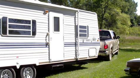 towing travel trailer 01 f 150 towing travel trailer youtube