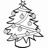 Christmas Tree Coloring Pages Printable Coloriage sketch template
