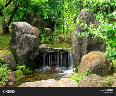 japanese water garden image photo bigstock