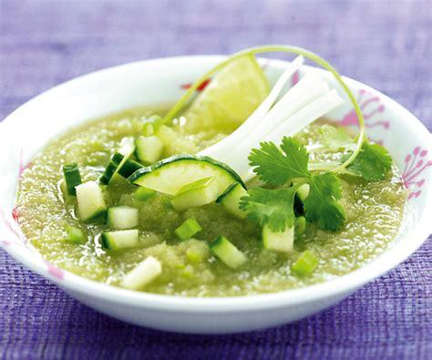Le Cerfeuil En Cuisine - entrée facile soupe fraîche de concombres et pommes verte