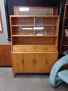 Mid Century Modern Solid Birch China Cabinet From The