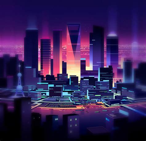 Permalink to City Illustration Wallpaper