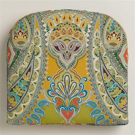 venice paisley gusseted outdoor chair cushion world market