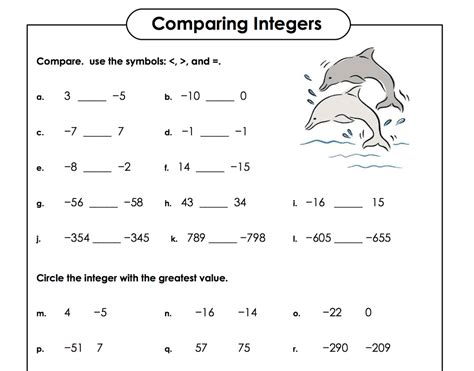 Pictures Ordering Integers Worksheet Getadating