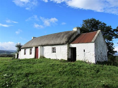 Ireland Cottage by Original Cottage Near Culdaff Dating From Approx