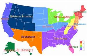 Regions Of The United States  My Perspective   1513x983