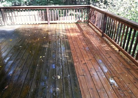 Stripping Deck Paint With Power Washer
