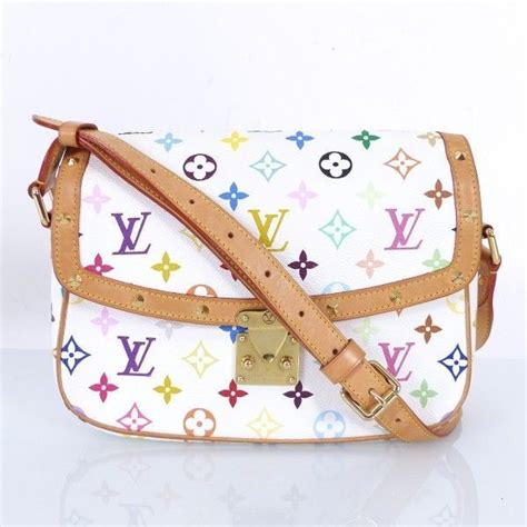 louis vuitton lv schulter tasche bag sologne weiss monogram multicolore ip bei secondherzog