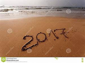Happy New Year 2017 On The Beach Stock Photo - Image: 78642664
