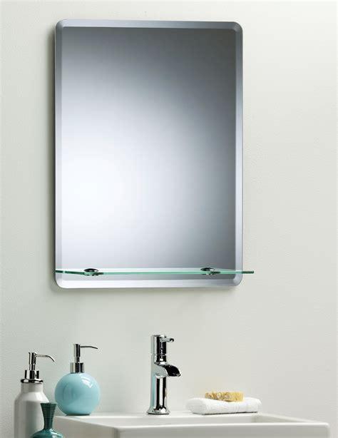 bathroom mirror modern stylish rectangular with shelf