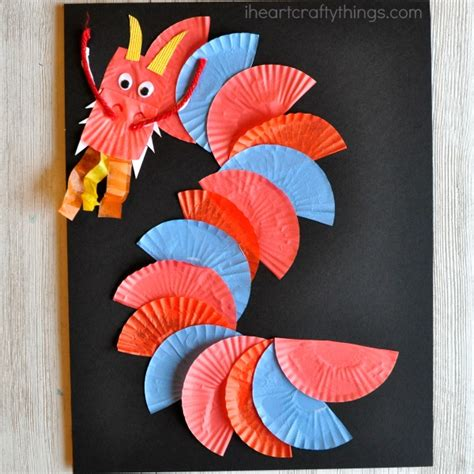 10 new year crafts latta creations 284 | chinese new year dragon craft