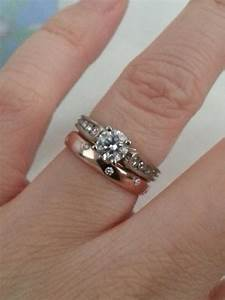 Crazy white gold engagement ring with a rose gold band for Gold and white gold wedding rings