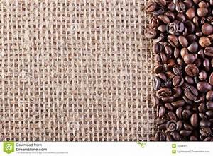 Coffee On Burlap Sack Background Stock Image - Image of ...