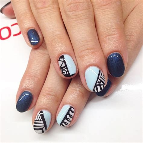 cute colorful tribal nail art designs  summer
