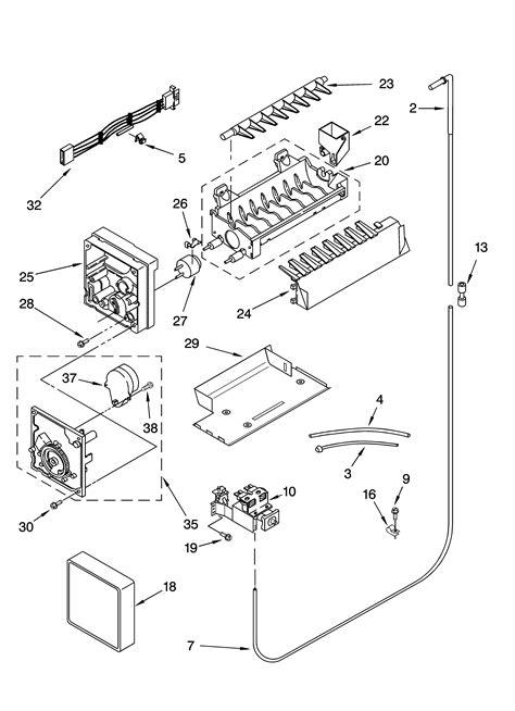 ge refrigerator ice maker parts diagram wiring diagram