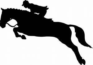 Clipart - Horse Jumping Dressage Silhouette Without Hurdle
