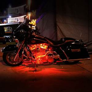 Color led light flex line for harley davidson dyna glide