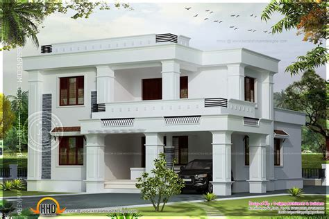 Simple Villas Designs Ideas Photo by Simple Flat Roof Villa In 2042 Square Kerala Home