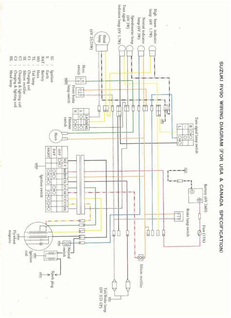 Suzuki Rv 125 Wiring Diagram by 1976 Suzuki Rv 90 Pic 9 Onlymotorbikes