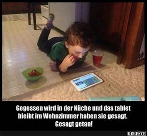 Gegessen wird in der Küche und das tablet bleibt im