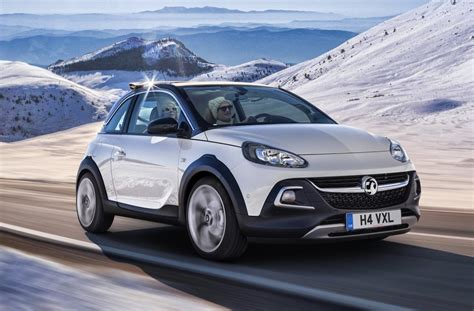 vauxhall adam rocks opel adam rocks revealed funky compact crossover